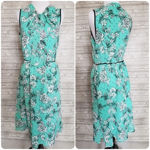 4 for $25 turquoise floral dress